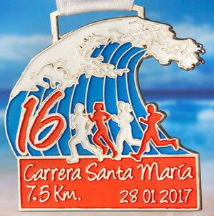 Carrera Santa Maria del Mar 7.5-k medalla