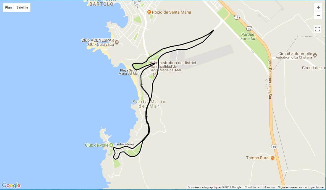 XVII Carrera Santa María del Mar 7.5k 2018 Mapa Ruta