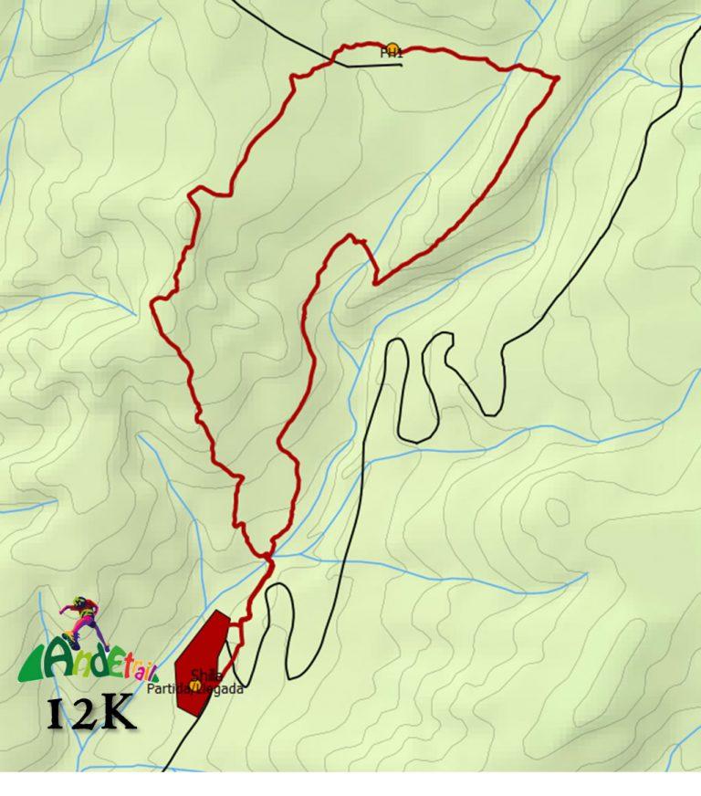 Ande Trail 2018 – 12K Mapa Ruta