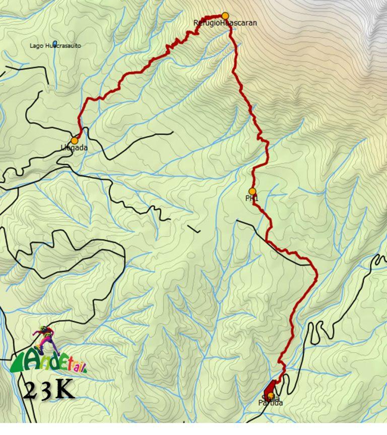 Ande Trail 2018 – 23k Mapa Ruta