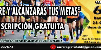 Carrera Corre y Alcanzarás tus Metas 6K 2018